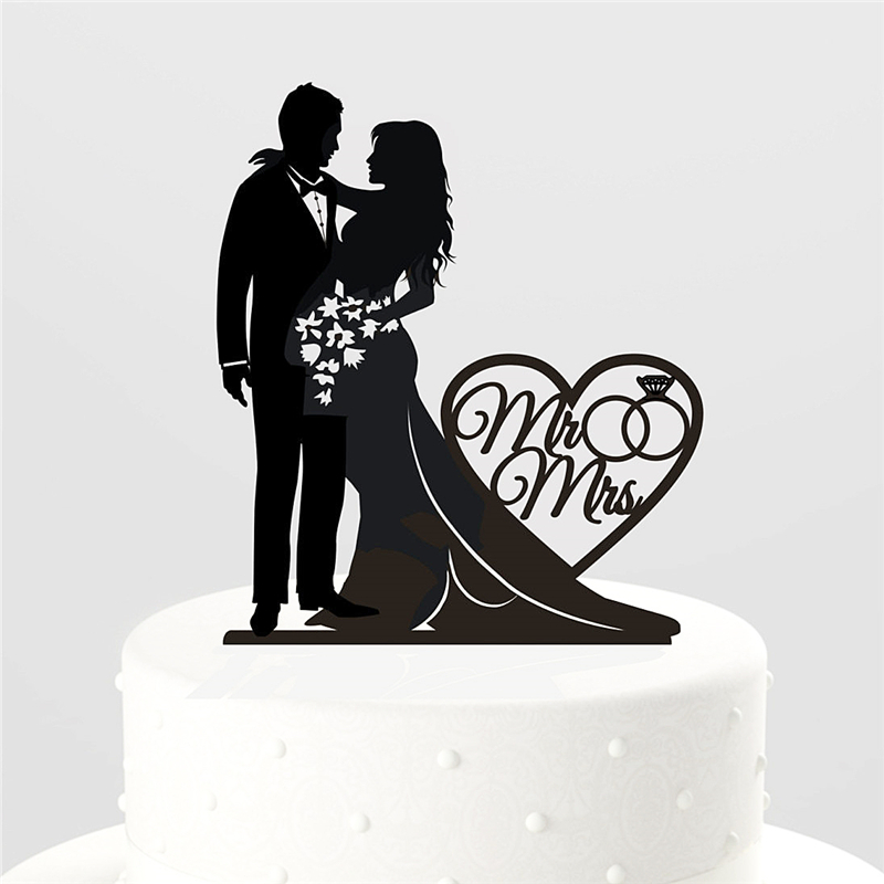 Wedding Cake Toppers Vector