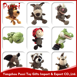 farm plush rhino hand puppets finger soft toy for baby children