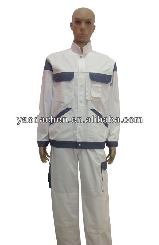 oil resistant two piece overalls for auto repair