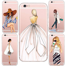 2015 Fashionable Genuine Sexy Lady Style Pattern Design Cases Cover For iphone 5 5s /6 6s Soft Clear Silicon Mobile Phone Shell