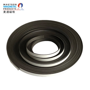 Hot - selling soft magnetic bar backglue strong rubber magnetic tape