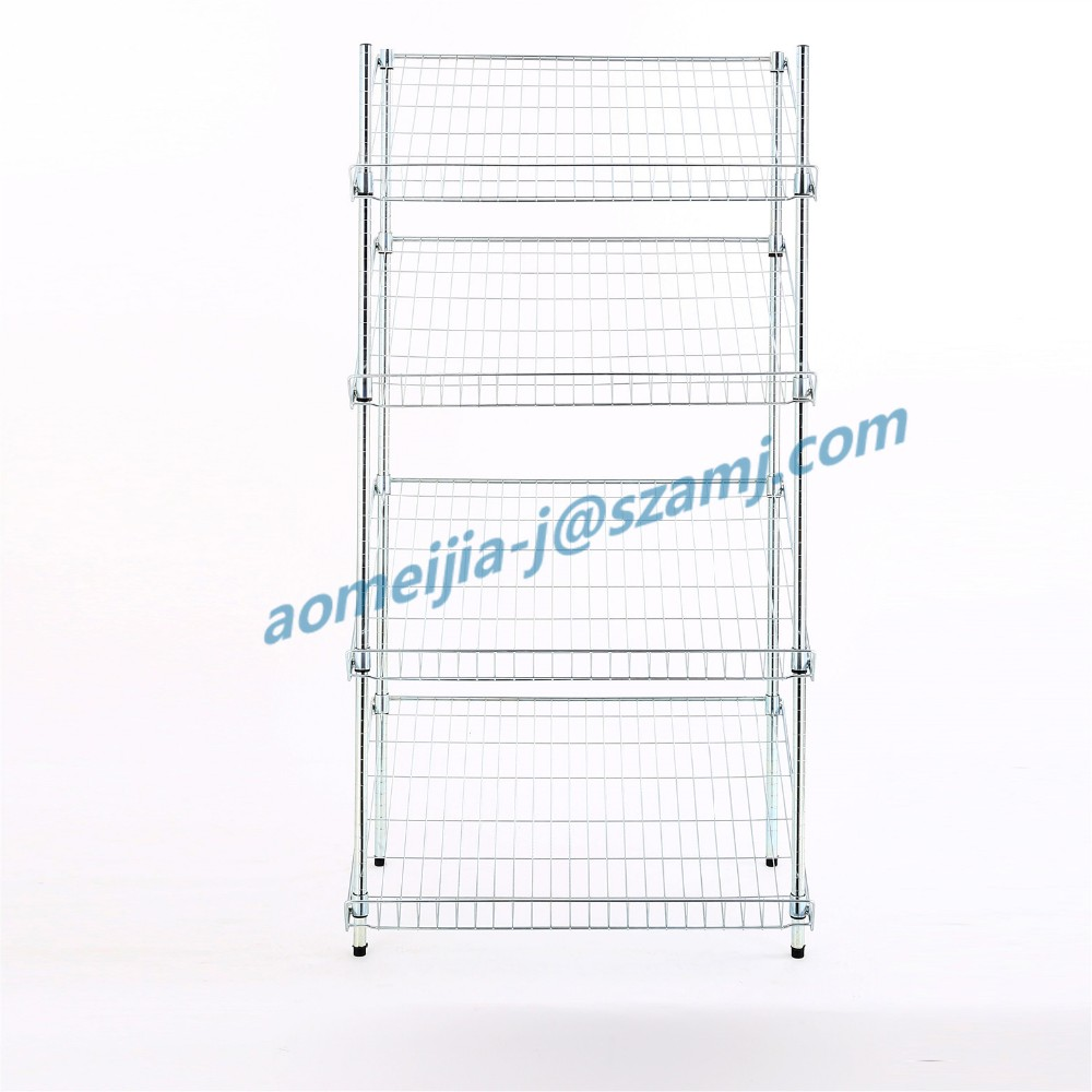 NSF approved 4 layer adjustable spacing widely use display rack