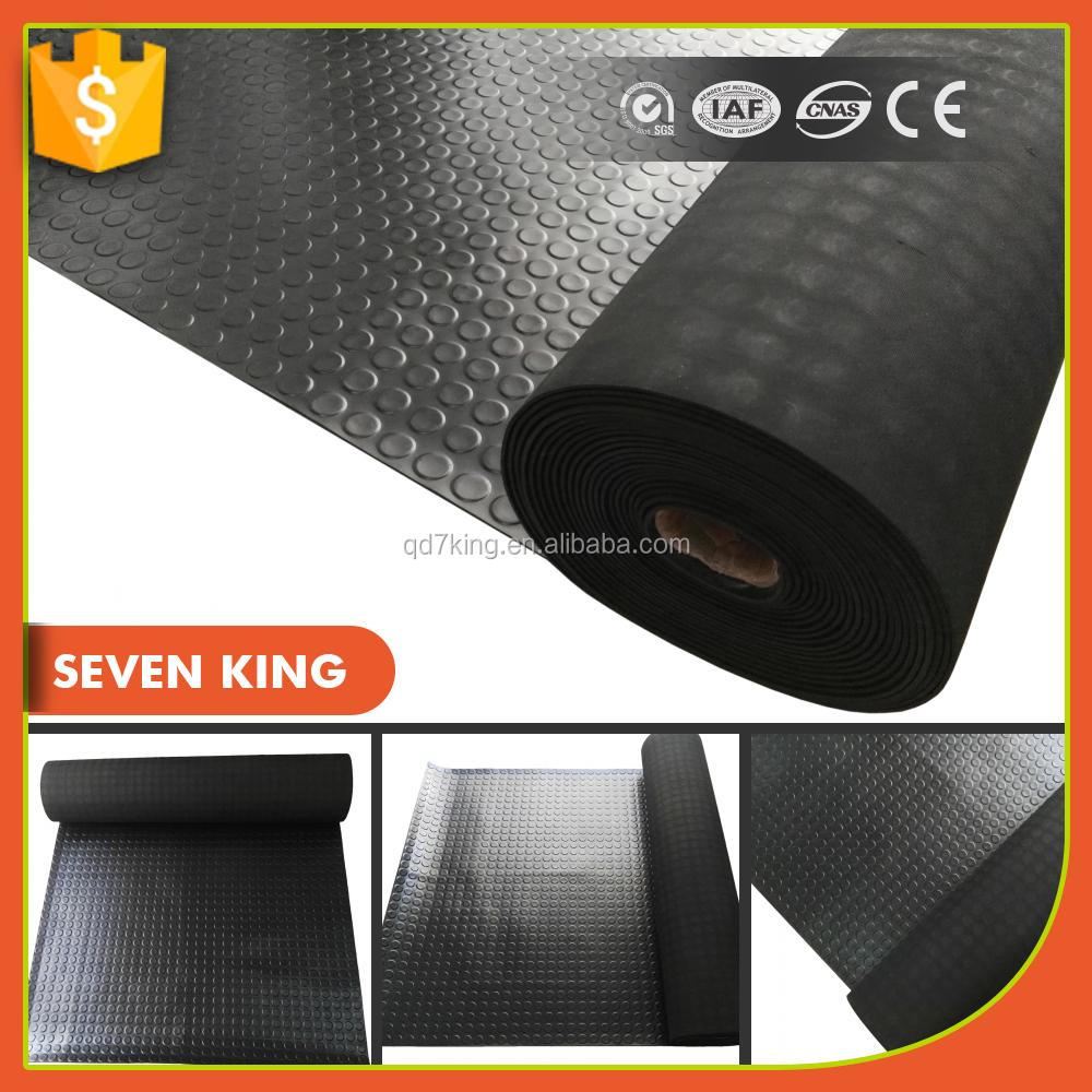 Qingdao 7 Roi Anti Slip Couleur Industrielle Feuille De Caoutchouc Tapis De Sol Utilis Pour