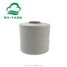 Manufacturer recycled raw white cvc yarn open end carded cotton blended yarn