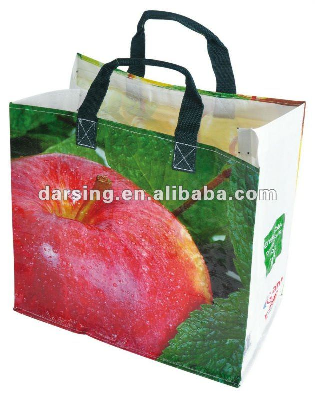 Laminated pp woven supermarket bag