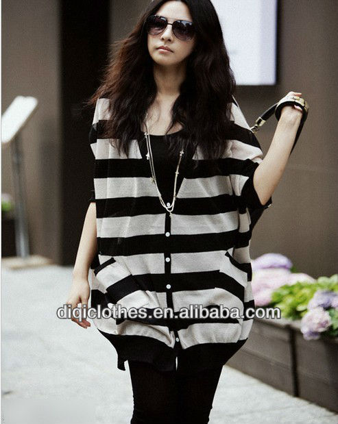 Stripe knitting cardigan batwing coat readymade garments bangladesh manufacturer