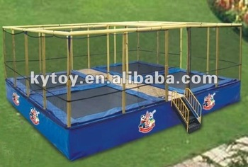 cheap square gymnastic trampoline for 4 persons