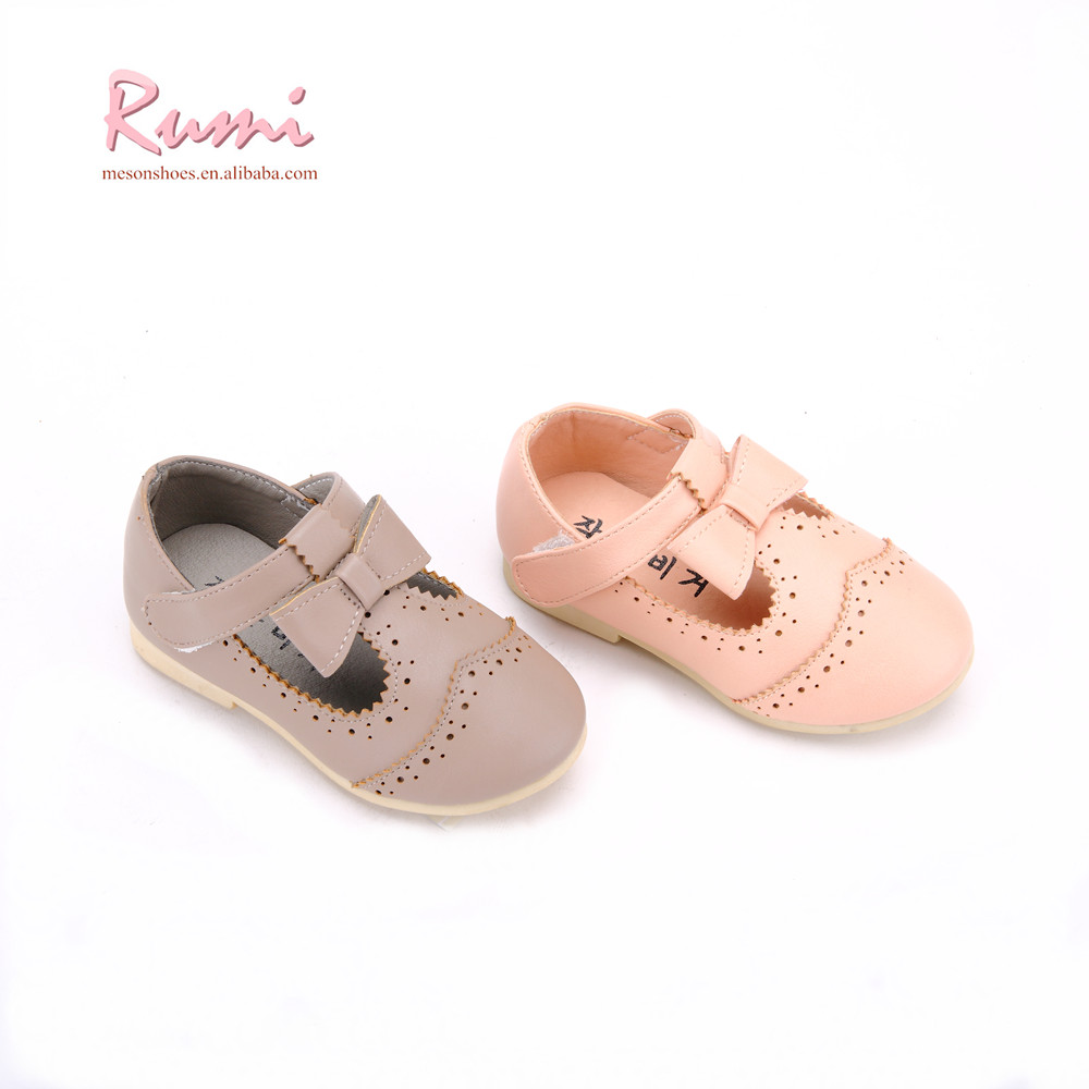 85ffeb1e833 T-strap Little Girl Nude Pumps Lovely Baby Pu Leather Shoes - Buy ...