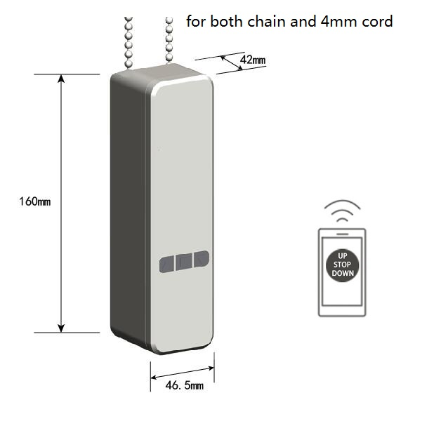 Smart blinds curtain chain motor for zigbee Tuya Wifi smart home automation system