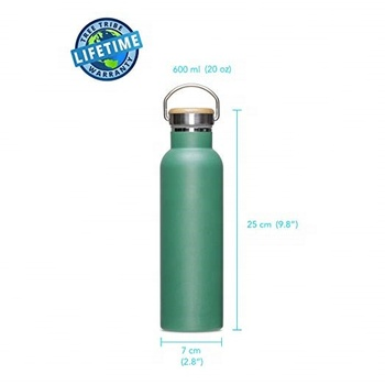Stainless Steel Water Bottle - Indestructible, BPA Free, 100% Leak Proof, Eco Friendly, Double Wall Insulated, Wide Mouth