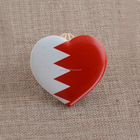 Heart Shaped Bahrain Flag Country Refrigerator Magnet