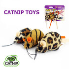 Wholesale Colorful Leopard Print Mouse Shaped Pet Cat Toy