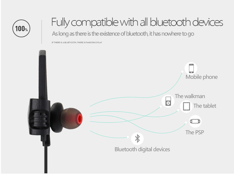 IPX4 wireless earphones bluetooth earphone for sport cell phone accessories headphone ear hook sport headset