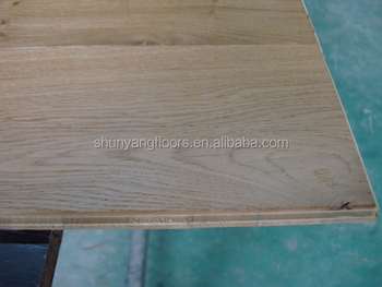 Uv Lacquered 3 Ply 1 Strip Engineered Wood Flooring With Solid Surface Of Oak