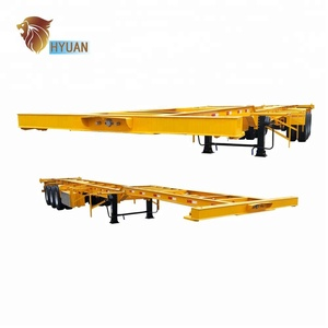 HYUAN 20FT 40FT Skeleton Container Semi Trailer and Chassis Seni Trailer for sale