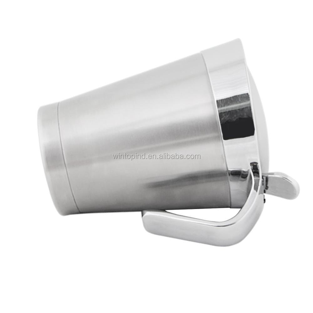 Stainless Steel Double Insulated Wall Gravy Boat ,Sauce boat with Spout