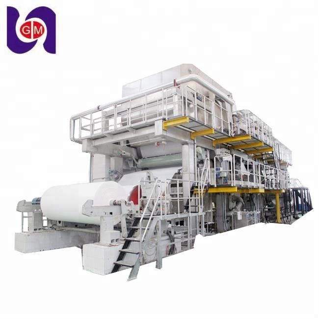 2400mm writing printing paper making production line and A4 computer copy paper machine