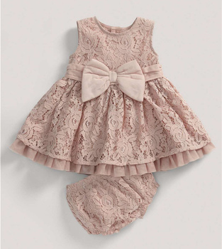 09642717a6c1 Champagne Lace Baby Dress