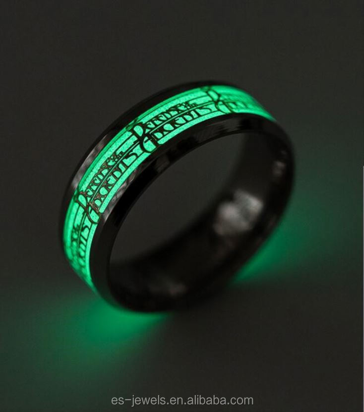 Factory Direct Fashion men ring Glow In The Dark O Ring
