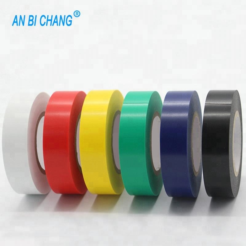 High Quality PVC Electricians Electrical Insulation Tape Blue 0.2mm x 19mm x 10M