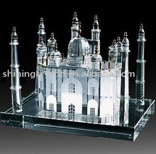 unique crystal building model-crystal Taj Mahal model