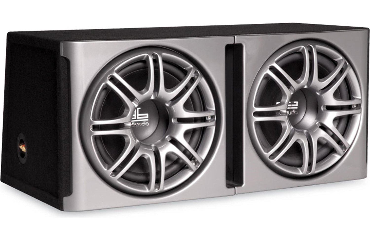 """Polk Audio db1222 Dual 12"""" Loaded db Series Hatchback Ported Subwoofer  Enclosure with Grilles"""