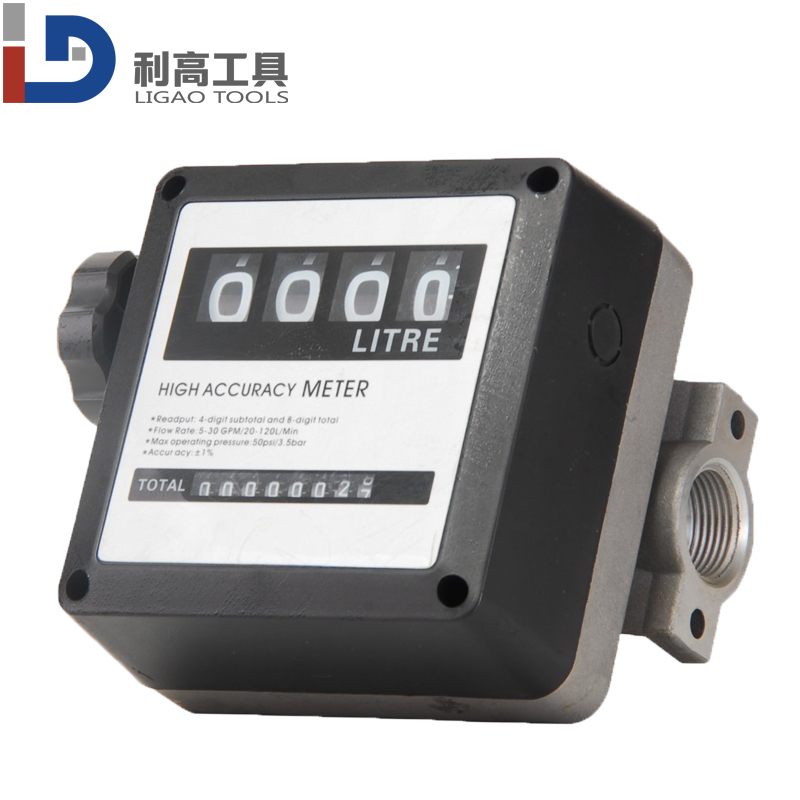 Top Selling mechanical fuel flow meter FM-120 Fuel Counter Diesel Flow Mechanical Diesel Counter 4-digit Oil Flow Meter