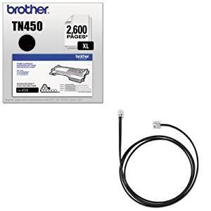 KITBRTTN450JBR1420122 - Value Kit - Jabra Cisco Electronic Hook Switch Adapter (JBR1420122) and Brother TN450 TN-450 High-Yield Toner (BRTTN450)
