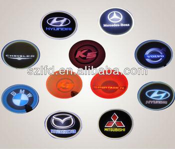 Geen Boor Led Autodeur Logo Projector Licht Diy Auto Laser Led Logo