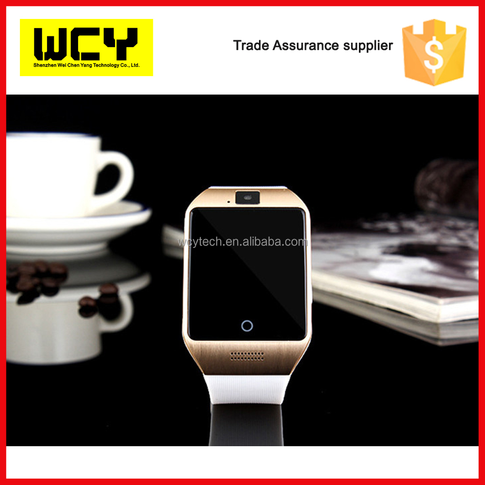 Factory direct selling Q18 smart watch sim with CE approval GMS touch screen camera bluetooth smart watch