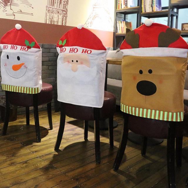 Cubiertas para Sillas El/ásticas Modernas y Lavables Fundas de Licra Protectoras para Boda Hogar Restaurante Hotel Alce,4 Piezas papasgix Fundas de Sillas Navidad de Comedor