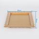 Rectangular Stand Fitting Plate Gold Hanging Crystal Cake Tray