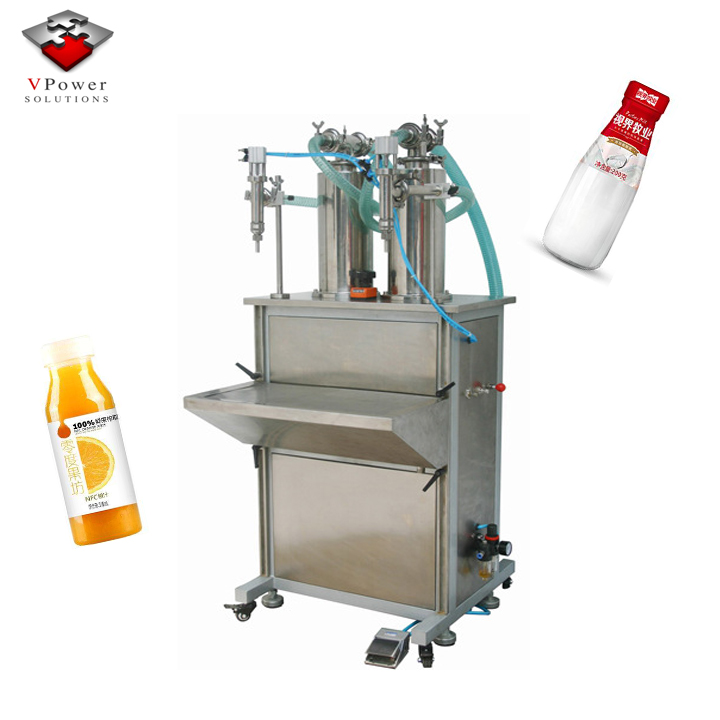 Guangzhou Factory Vertical Pneumatic Liquid Filling Machine For Juice,Carbonated drinks, Alcoholic Beverage, Pure Water,Oil