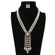 Collar de cuentas de múltiples capas estilo bohemio collar africano pendientes joyería