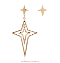 Asymmetric Star Ornaments Superstar Hanging Earrings For Teenager