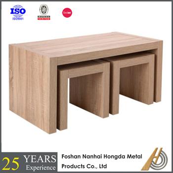 Solid Oak Wood Nesting Tables