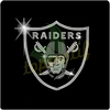 Football Raiders Iron On Rhinestone Transfer Designs, Hot Fix Motif Rhinestone For Clothing