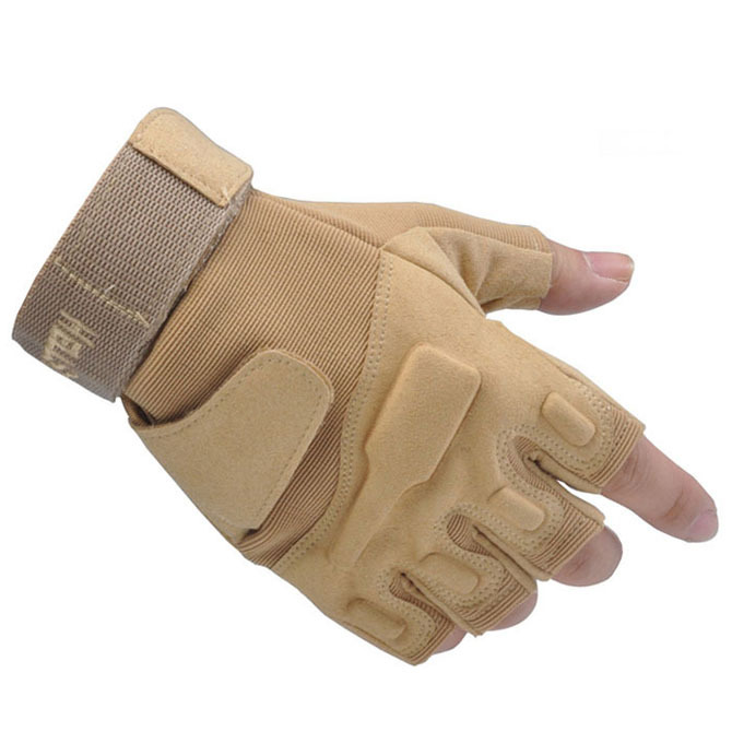 1 Pair High Quality Sports Fingerless Tactical Gloves & Airsoft Gloves & Hunting Bike Gloves Black/Sand/Army Green