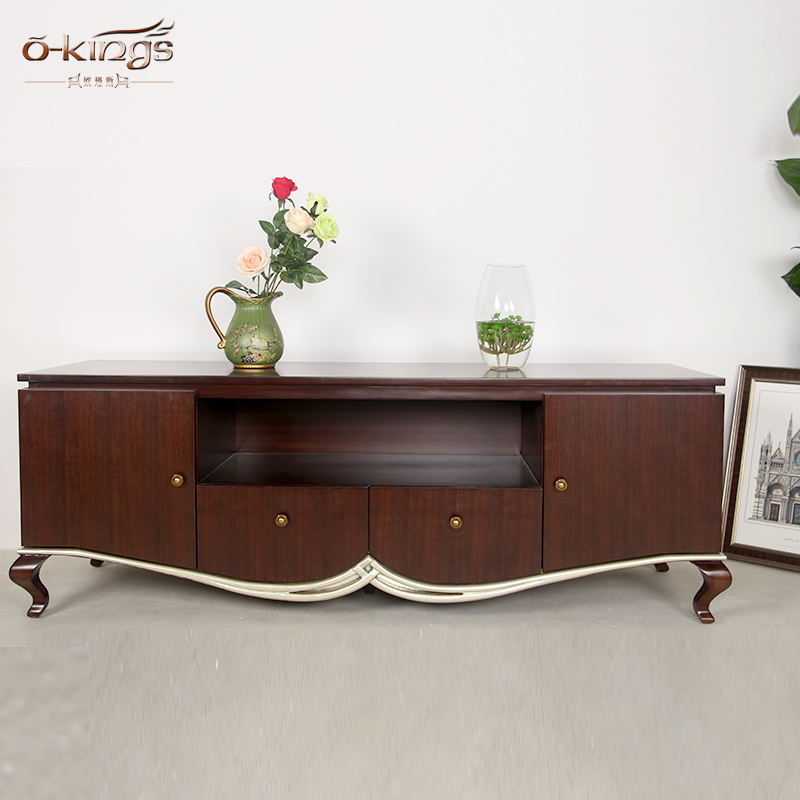 American style Classic wooden tv stand tv cabinet for living room furniture