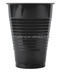 7/9/12/16 oz Colorful Disposable PS Black Velvet Plastic Cold Drink cup