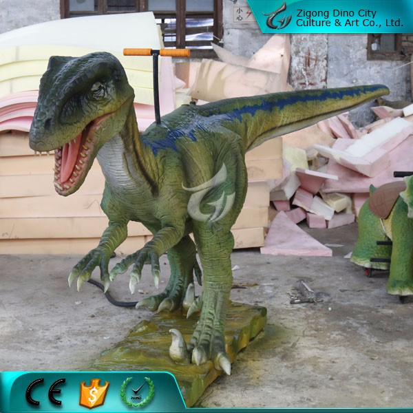Life Size Mechanical Fiberglass Beautiful Dinosaur Model for Christmas Decoration