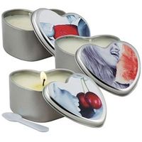 Natural Massage Oil Candle in Heart Shape Tin Jar