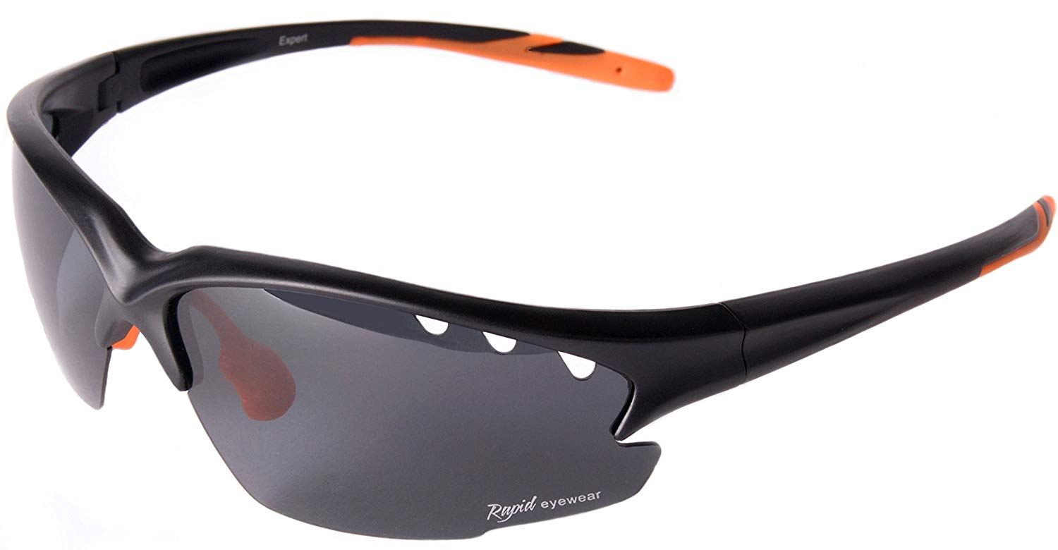 15acd2f5c11c Get Quotations · Rapid Eyewear Fusion Solo Mens and Womens Polarised UV4OO  SPORTS SUNGLASSES for Cycling