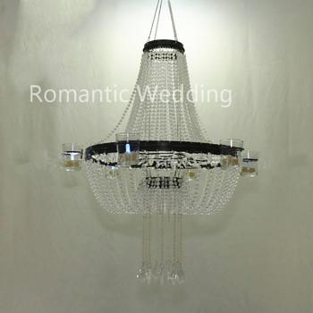Exquisite acrylic beads hanging chandelier votive candle holder for exquisite acrylic beads hanging chandelier votive candle holder for wedding decoration centerpiece aloadofball Choice Image