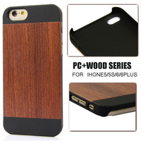 100% Natural rose wood for iphone5s cover,PC wood protector for iphone 6