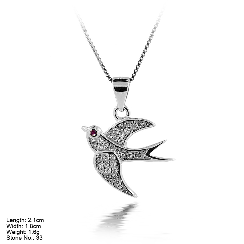 PZ4-029 Good Price from China 925 Silver Pandent with CZ Stone Animal Shape Pendant