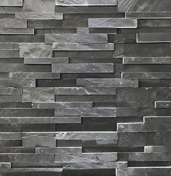 Black Slate 3D Exterior Natural Stone Exterior Wall Cladding/Cheap Stacked Stone/Ledge Stone