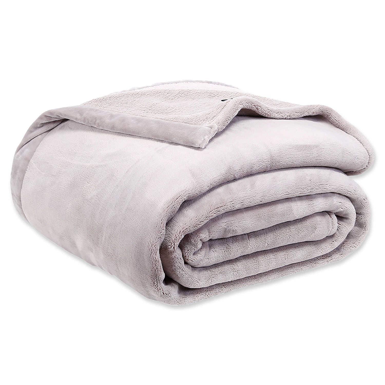 Berkshire Blanket Luxury Primalush Elite Blanket Full/Queen Size in Stone Color