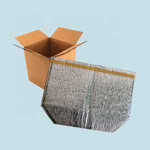 6X6X6Inch Insulated Corrugated Box Liners Thermal Break 3D Box Liner for Shipping Perishable Food