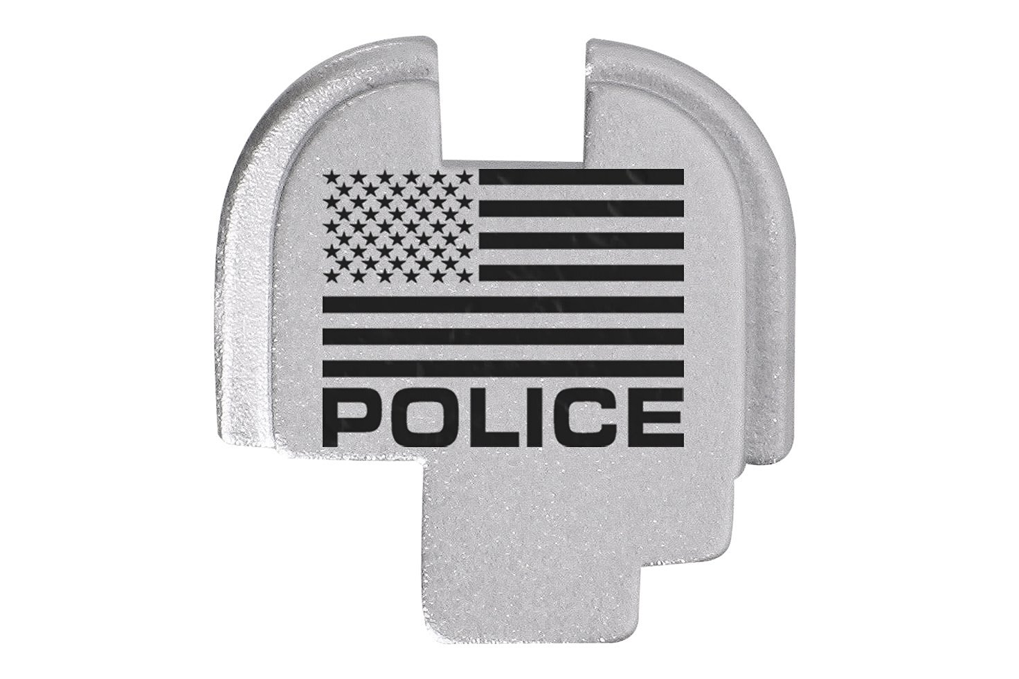 For Springfield Armory XDS 9mm 45ACP Rear Slide Plate Silver Us Flag Police